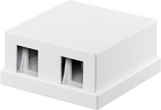 Keystone box 2-port