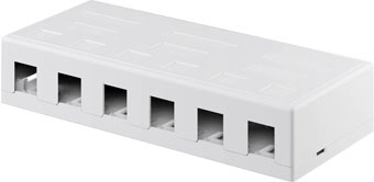 Keystone box 6-port